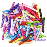 """HipGirl Boutique Grosgrain Korker Ribbon for Hair Bows, Hairbow Clips, Ribbon Shirt, Pony Holders -- (240pc 2.5"""" Solid)"""