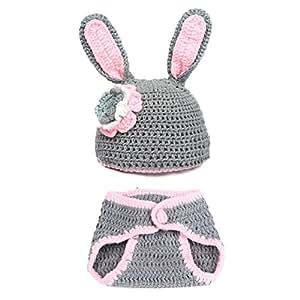 90 puntos bebé recién nacido infantil disfraz de Crochet Props ...