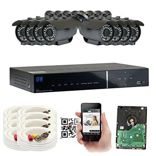 GW Security 8 Channel 2.1MP 1080P HD Outdoor/ Indoor Security