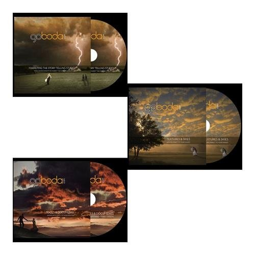 Boda DVD: Jim Garner Educational CD Bundle (set of 3) includes, ''Marketing The Story Telling Studio'', ''Textures & Skies'', and ''Tools and Documents'' by boda