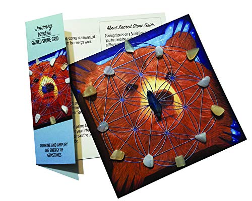 (Journey Within - Bear Totem Sacred Stone Little Grid Kit for Crystal Healing and Energy)
