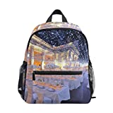 Funny PrintStarry Wedding Lightweight School Backpack for Boys Girl Kids