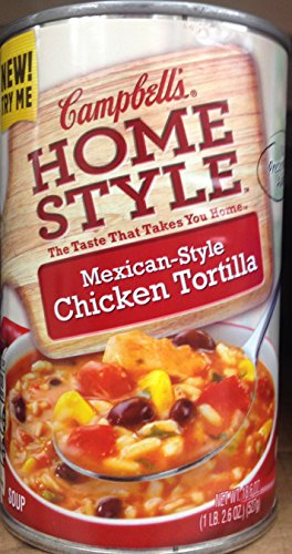 Campbell's Homestyle Mexican-Style Chicken Tortilla Soup 18.6oz. (Pack of 5)