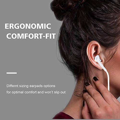 Lighting Connector Earbuds Earphone Wired Headphones Headset with Mic and Volume Control,Isolation Noise,Compatible with Apple Earbuds iPhone 11 Pro Max/Xs Max/XR/X/7/8 Plus Plug and Play