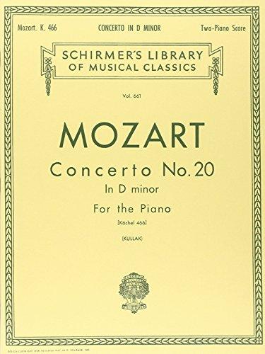 Concerto No. 20 in D Minor for the Piano (Schirmer's Library of Musical Classics, Vol. 661) (Mozart Violin Concerto No 2)