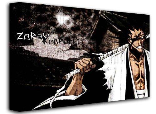Bleach-Manga-Zaraki-Kenpachi-Japanese-Animated-Comic-Size-16-x-12-40cm-x-30-cm-Approx-Anime-Naruto-Manga-Canvas-Art-Picture-Print-FRAMED-CANVAS-by-wallart101