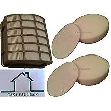 Shark Navigator Professional 2 Foam Filter Kits and 1 HEPA Filter fits NV80, NV70, NVC80C, UV420, NV90 part # XFF80 & XHF80, by Casa Vacuums
