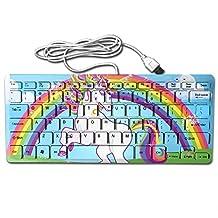 Rainbow Unicorn Poop Cookies Ultra Slim Mini Keyboard Wired Gaming Keyboard Computer Accessories Keyboards For Laptop