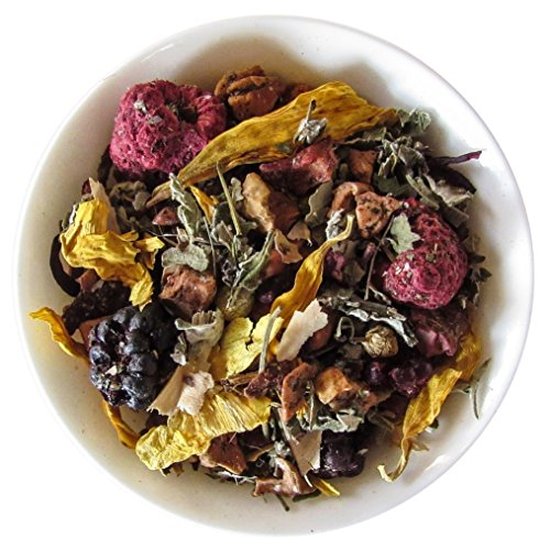 Wild Mint Tea - Mahalo Tea Wild Raspberry Mint Herbal Tea - Loose Leaf Tea - 2oz