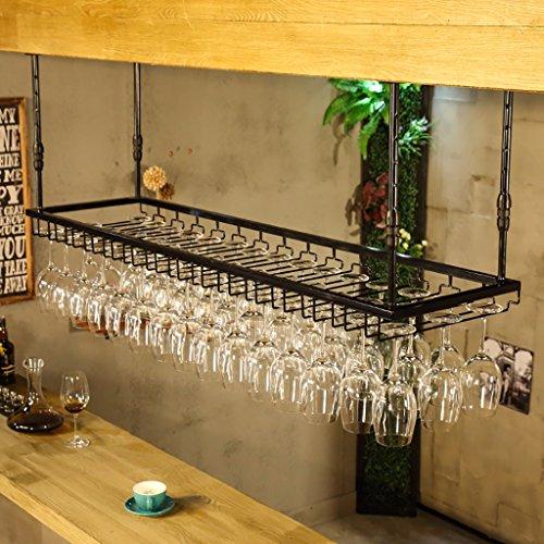 - MoDi Wine Rack/Hanging Red Wine Cup Holder/Hanging Upside Down Glass Holder/Creative Home Bar/Wine Rack Hanging Glass Holder (Color : 1, Size : 12040cm)