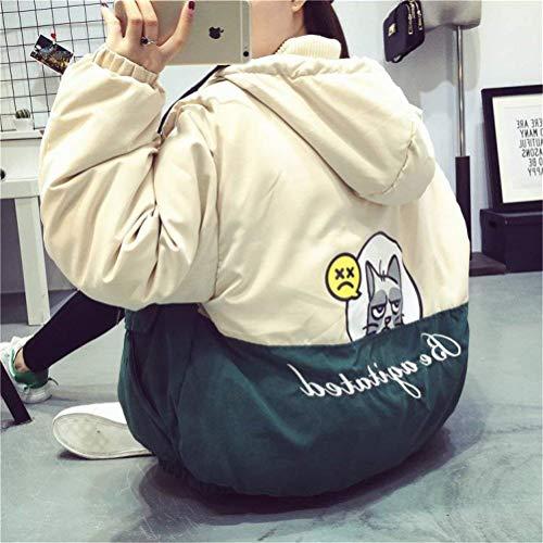 Stampato Donna Moda Outdoor Grün Libero Eleganti Incappucciato Outwear Fidanzato Invernali Manica Sciolto Tempo Addensare Abbigliamento Caldo Stile Giacca Jacket Cappotto Lunga PnPqSTwvr