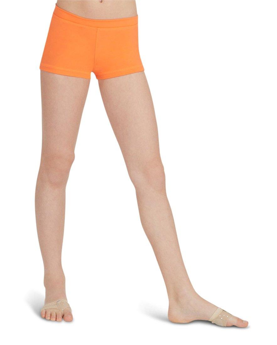 Capezio Boy Cut Low Rise Shorts, Orange, Small