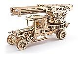 Mechanical UGEARS wooden 3D puzzle Fire Truck Construction Set