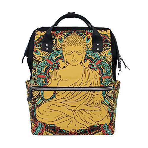 - Buddah Buddhism Buddhist Zen Art Mommy Bag Mother Bag Travel Backpack Diaper Bag Daypack Nappy Bags for Baby Care Large Capacity