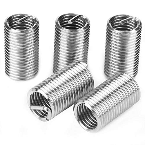 Ochoos 55pcs M4-M12 Stainless Steel SS304 Coiled Wire Helical Screw Thread Inserts