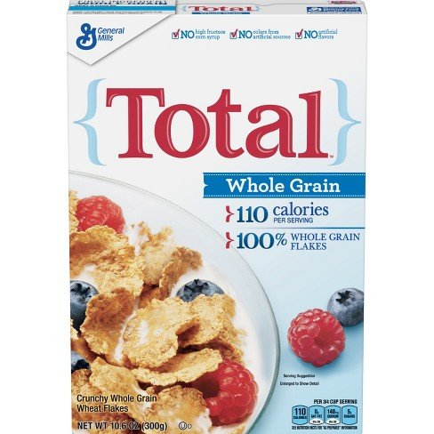 Total Whole Grain Cereal - Total Whole Grain Flakes, 10.6 oz (pack of 3)