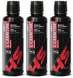 fat loss diet - L-Carnitine 1,100MG - metabolism supplements - 3 Bottles (48 FL OZ)