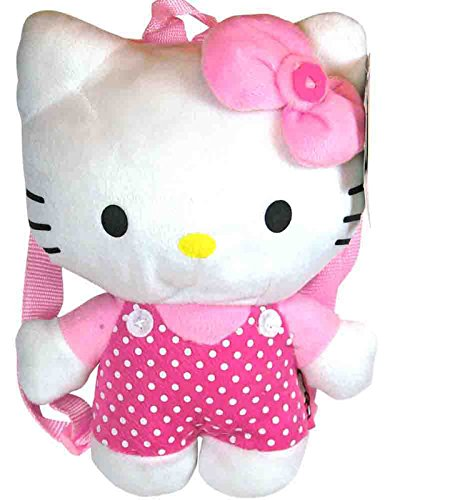 Plush Backpack - Hello Kitty - Small Plush Pink Dots New Soft Doll Toys 67265
