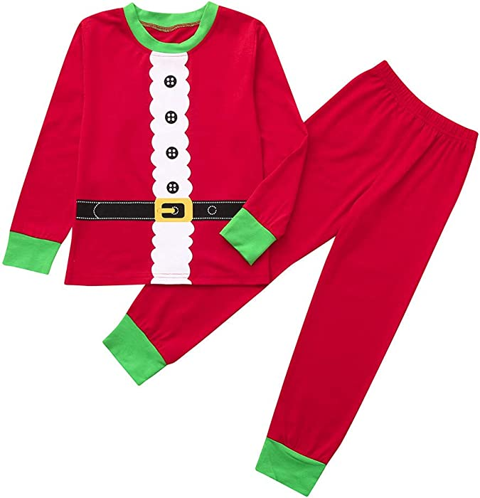 Longra Baby Christmas 2 Pcs Sets - Boys Girls Patchwork Tops Pants Family Pajamas  Sleepwear Matching Christmas Sets for 1-7 Years  Amazon.co.uk  Clothing be4b1fb4f