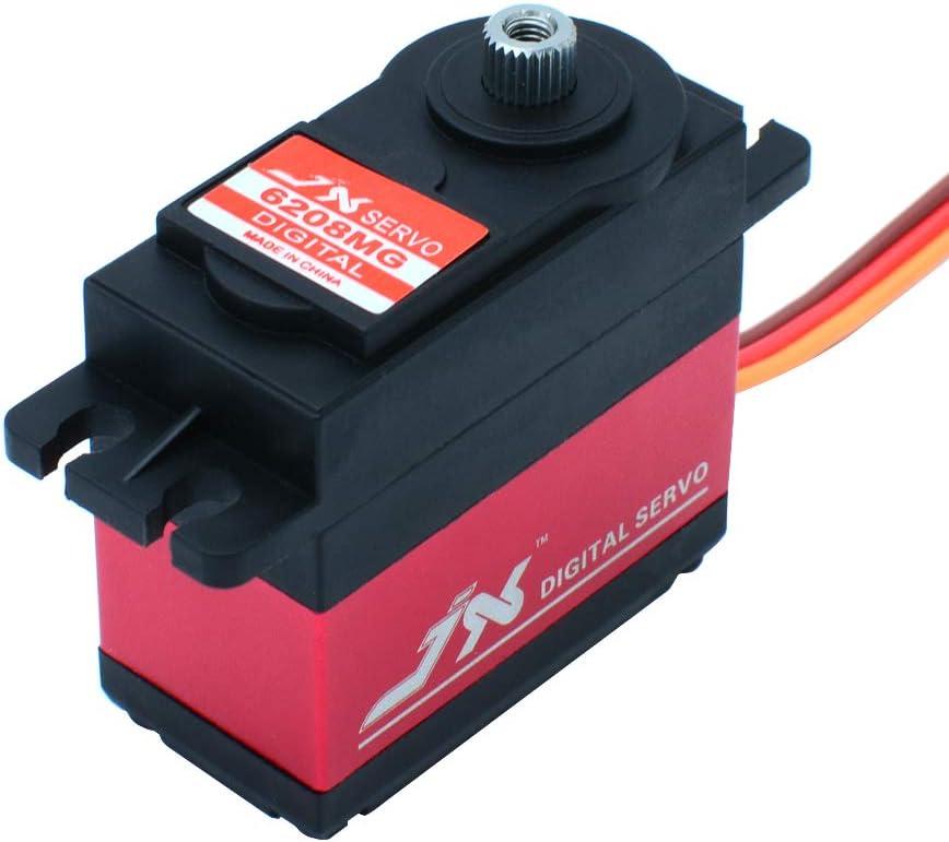 JX Servo PDI-6208MG 8 KG Schnelle Metallgetriebe Digitale Servo f/ür Drone RC Auto Boot Robort Drift