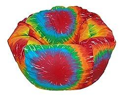Ahh! Products Tie Dye Rainbow Kid Bean Bag Chair