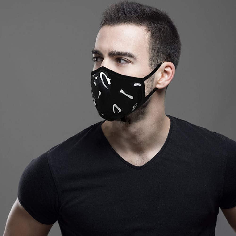 MKDASFD Mascaras Las máscaras Protectoras diarias para Hombres y Mujeres se Pueden Limpiar y reutilizar.Mascarilla Transpirable con protección Solar a Prueba de Polvo Ajustable
