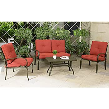 conversation patio furniture on sale sets home depot cloud mountain piece set outdoor cushioned sofa garden love seat wrought iron coffee table chairs o