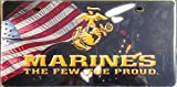 Marines PRINTED SD23529 Deluxe Laser Acrylic License Plate Tag U.S. Marine Corp United States Military