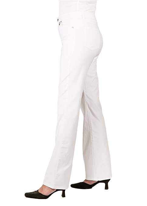5bce0f29d4a Simon Chang  Petite 5 Pocket Straight Leg Microtwill Pant Style 3-5302P   Amazon.ca  Clothing   Accessories