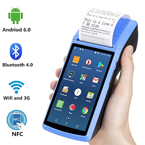 POS Android Terminal MUNBYN Thermal Receipt Printer with 5 inch Touch Screen Support NFC 3G WiFi Bluetooth for Order Receipt Print