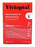 Vivioptal Active Multivitamin/Multimineral German Formula Multi+Ginseng & Omega 3 30 Capsules Review
