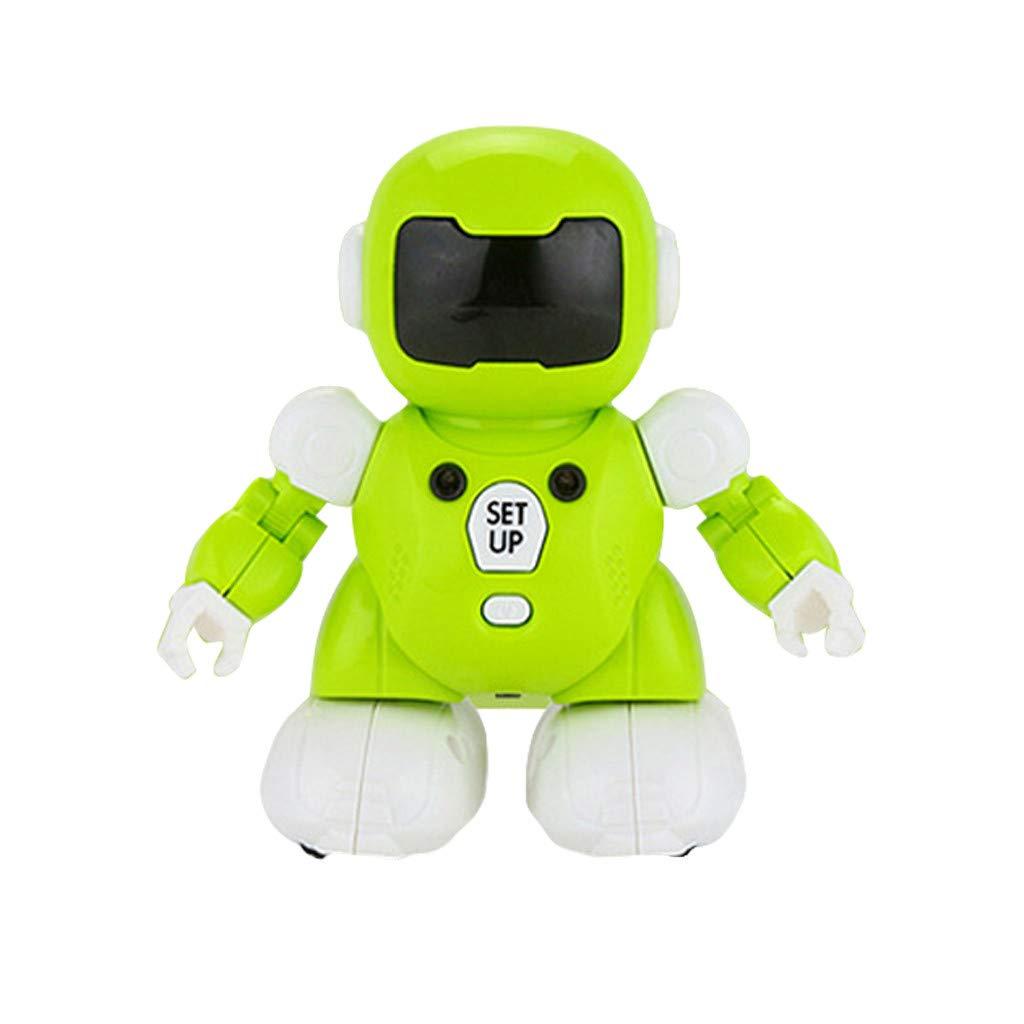 Oasics Robot Inteligente, Robot de Control de Voz Sensing Smart Robot Interactivo Smart Toy Assistant, Funciones de Sonido y música para niños y niñas