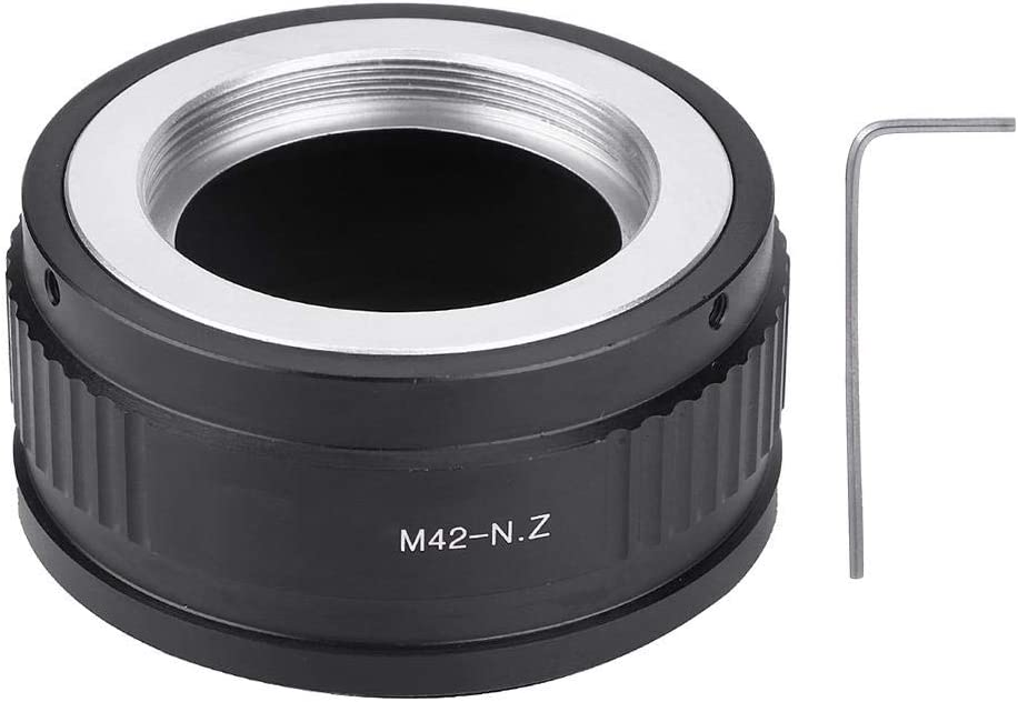 Aluminum Alloy Black Flexible Camera Adapter Ring Easy to Install for M42 Lens to for Nikon Z Mount Camera Mugast Lens Adapter Ring