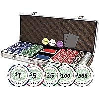 DaVinci Casino Del Sol Set de Fichas profesionales para póker con estuche, juego de 500, 11.5 g
