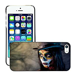 Print Motif Coque de protection Case Cover // V00001716 Muchacha del cráneo del azúcar // Apple iPhone 5 5S 5G