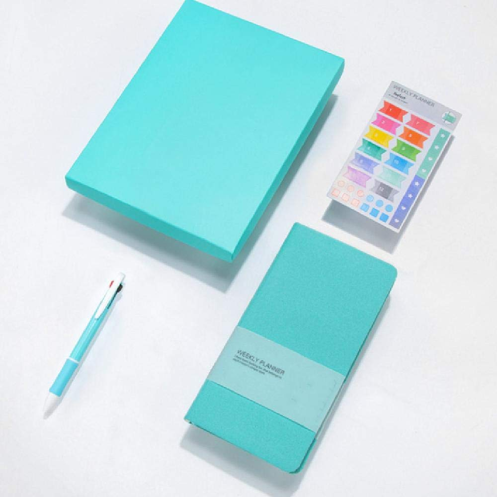 Notebook Pure Color Pocket Weekly Planner Book Gift D