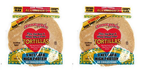 (Value 2 Pack: Joseph's Low Carb Tortillas, Flax, Oat Bran & Whole Wheat, 8 Inch, 6 Tortillas)