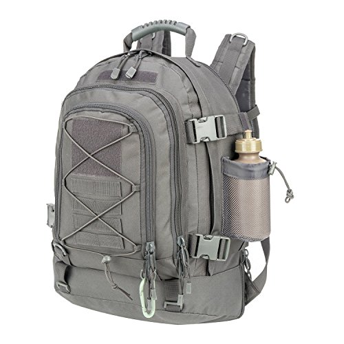 Military Tactical Backpack, Large 3 Day Army Molle Assault Rucksack for Outdoors, Hiking, Camping, Trekking, Bug Out Bag & Travel by ARMYCAMOUSA (Gray)