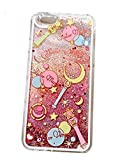 Thunderous iPhone 6S Sailor Moon Case,Liquid Case for iPhone 6S,Transparent Plastic Creative Design Flowing Liquid Bling Glitter Sparkle Sailor Moon for Apple iPhone 6/6S 4.7