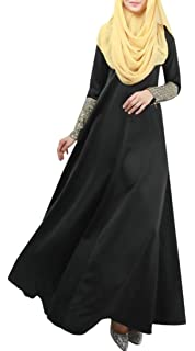 Joe Wenko Mens Long Sleeve Slit V Neck Muslim Turkey Abaya Plus Size Shirt