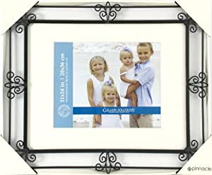 Gallery Solutions Wrought Iron Scroll Frame with Mat, 11 by 14-Inch Matted to 8 by 10-Inch