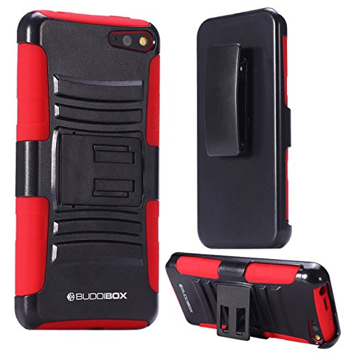 Fire Phone Case, BUDDIBOX [HSeries] Heavy Duty Swivel Belt Clip Holster with Kickstand Maximal Protection Case for Amazon Fire Phone, (Red)