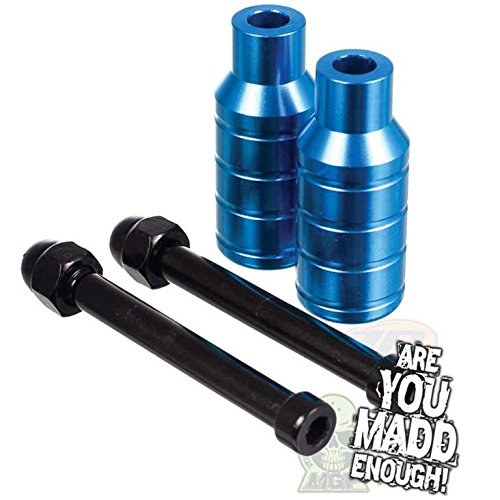 Madd Gear Scooter Integrated Extreme Axle Pegs Blue