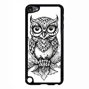 Ipod Touch 5th Generation Case Shell,Retro Cool Owl Hibou Phone Case Cover for Ipod Touch 5th Generation