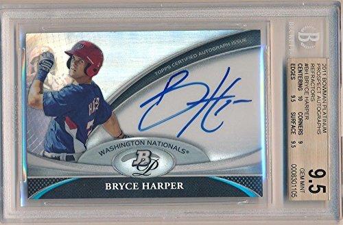 Buy bryce harper bgs auto platinum