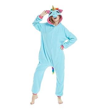 YLOVOW Unisex Adulto Onesie Pyjamas Anime Kigurumi Trajes Disfraz Cosplay Animales Pijamas Ropa De Dormir,