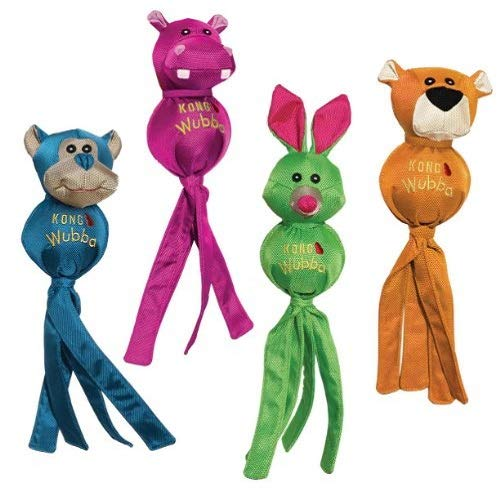 (KONG Wubba Ballistic Friends, Small Dog Toy, Assorted)