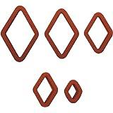 Decora 0255085 Set 5 Tagliapasta Mostacciolo, Plastica, Marrone, 15x9x4 cm