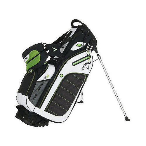 Callaway 2016 Hyper-Lite 5 Stand Bag, Black/White/Green (Callaway Chev Stand Bag compare prices)