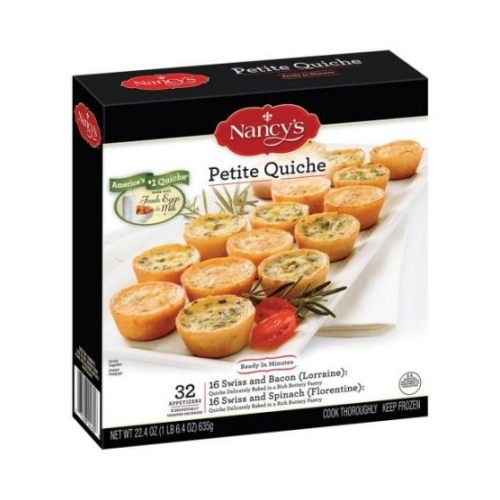 Nancys Petite Quiche, 22.4 Ounce - 32 per pack -- 8 packs per case.